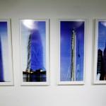 Edificios altos de Santiago escaneados por una cámara en las alturas.