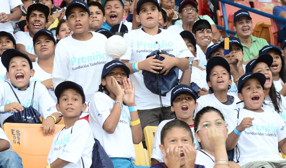 Fundación Telefónica continúa con su labor de contribuir con el crecimiento, educación y entretenimiento de los niños beneficiados a través de su programa Proniño.
