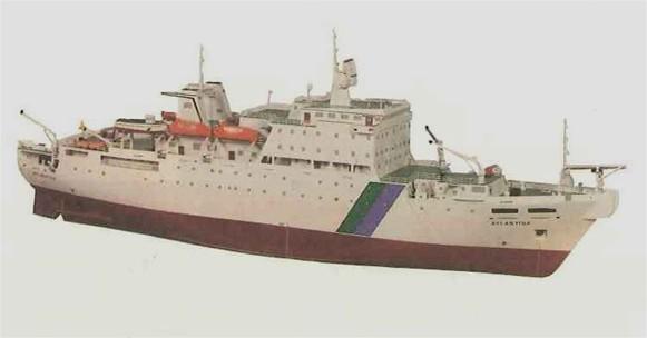 Maqueta del buque cablero Atlántida