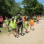 El pasado sábado 6 de julio se desarrolló una actividad de geocaching en el monte del Pardo en la que participaron Voluntarios Telefónica  y personas con discapacidad.