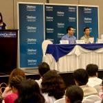 """María Lobo, encargada de los programas sociales de Fundación Telefónica a nivel regional, durante su intervención en el II Congreso Regional de Educación """"Competencias del Siglo XXI""""."""