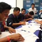 Los jóvenes participantes son graduados de bachiller que han sido atendidos por Proniño, el programa de Fundación Telefónica que busca erradicar el trabajo infantil mediante la escolarización de calidad.