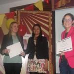 Entrega de premios del APPCircus de Bogotá. A la derecha, Claudia Aparicio, Directora de Gestión Social de Fundación Telefónica Colombia.