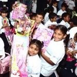 Más de190 niños de escuelas beneficiadas por Fundación Telefónica disfrutaron de una mañana cargada de alegría.