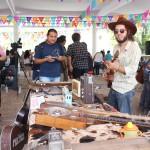Los makers que asistieron a la feria mostraron proyectos como guitarras eléctricas, algunas armadas con materiales reciclados