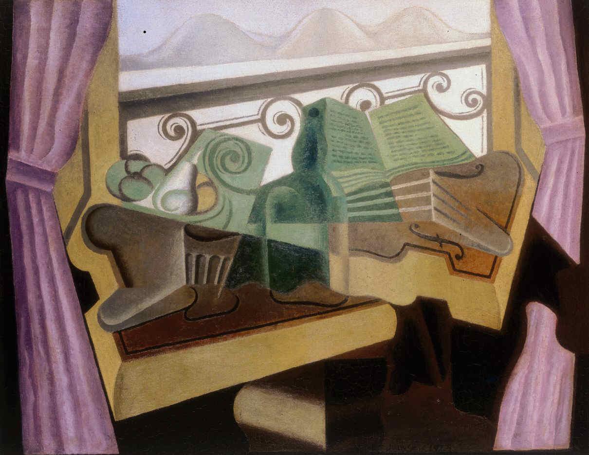 La fenêtre aux collines. Juan GRIS (1923)