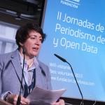 Rosa Mª Sáinz, Gerente de Proyectos Editoriales y Explotación de Fundación Telefónica, presenta el evento.