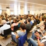 Más de 100 personas acudieron a la presentación en el Mobile World Centre - ®Arduino Vannucchi