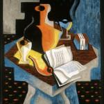 Jean Metzinger. Livre et pipe rouge