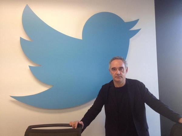 Ferran Adrià en las oficinas de Twitter Spain
