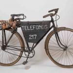 Bicicleta de celador usada por el personal de mantenimiento para sus desplazamientos. Años 20