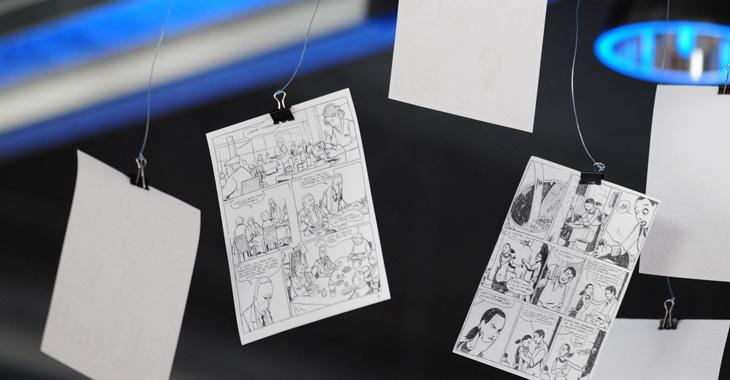 Dibujos y bocetos del Premio Nacional de Cómic 2008