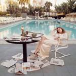 Faye Dunaway el día siguiente a recibir el Oscar Beverly Hills 1977/ ©Terry O'Neill