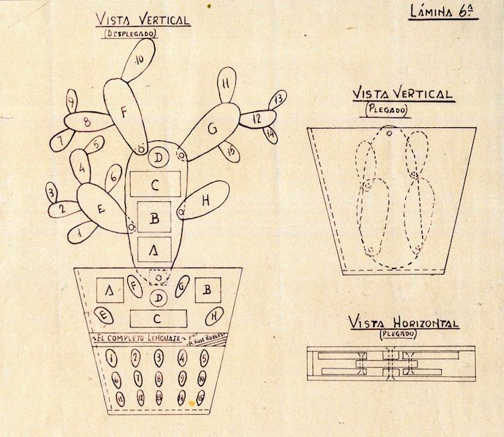 Libro mecánico 'Cactus'. Archivo herederos Ángela Ruiz