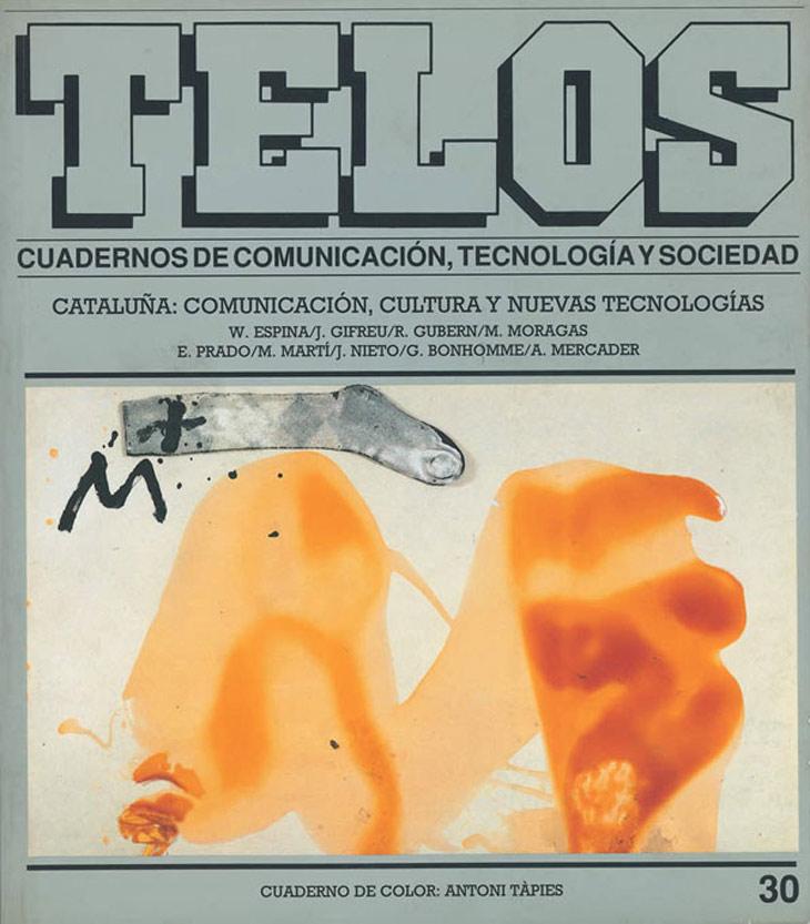 Siete obras inéditas de Antoni Tápies ilustraron este número de Telos, para el que también creó especialmente la obra Signes, que pasó a su vez a formar parte de la colección de arte Fundesco (germen de Fundación Telefónica). Las Olimpiadas de Barcelona se celebraron el mismo trimestre de publicación de este número (junio-agosto de 1992), por lo que hicimos coincidir este acontecimiento con el tema del Cuaderno Central, que analizara los avances de las telecomunicaciones en Cataluña en aquel momento.