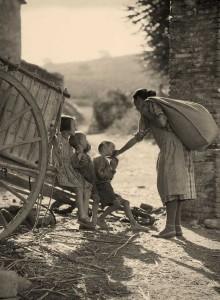 'Madre, carro y niño'