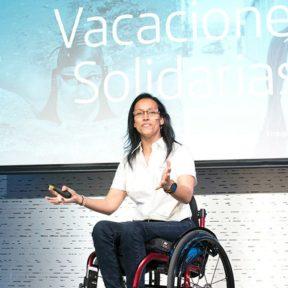 Teresa Perales motiva a los Voluntarios de Telefónica