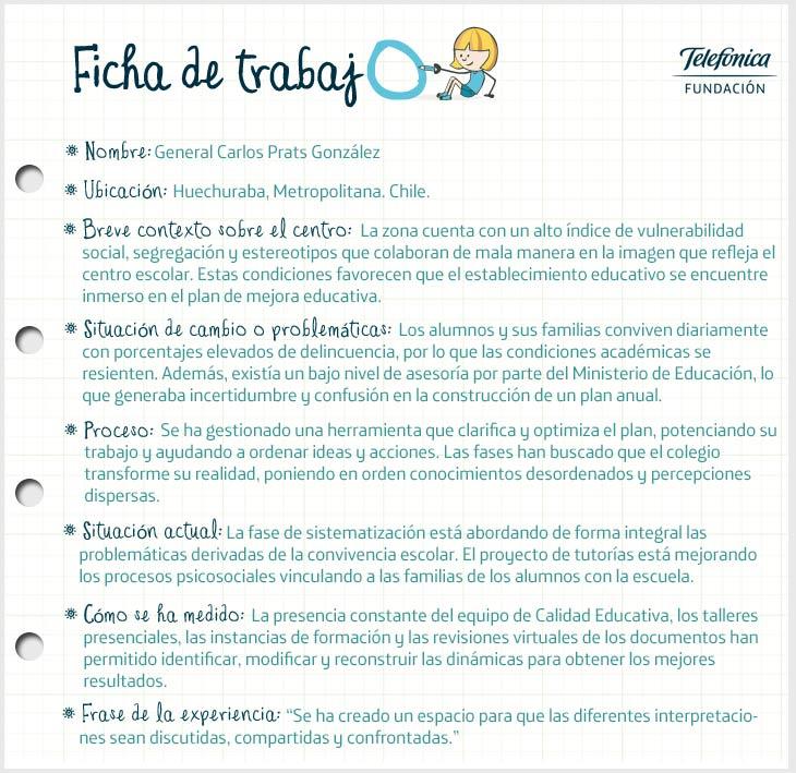 Ficha de Chile en el proyecto Transformación de Escuelas en Latinoamérica