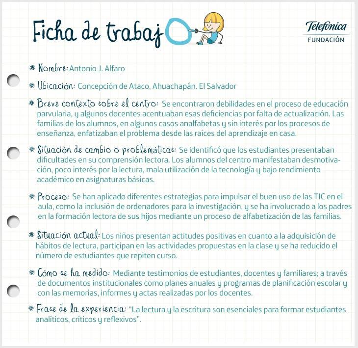 Ficha de El Salvador del proyecto Transformación de Escuelas en Latinoamérica
