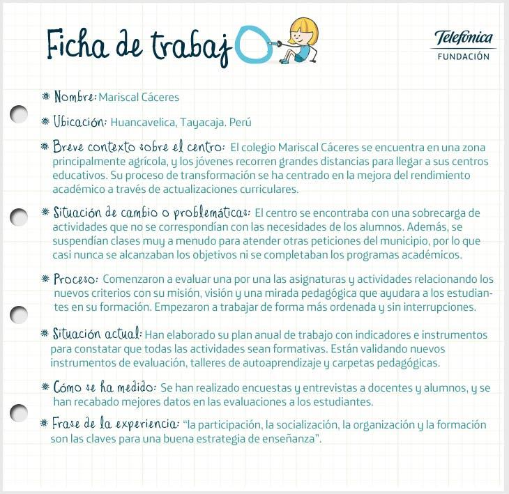 Ficha de Perú del proyecto Transformación de Escuelas en Latinoamérica