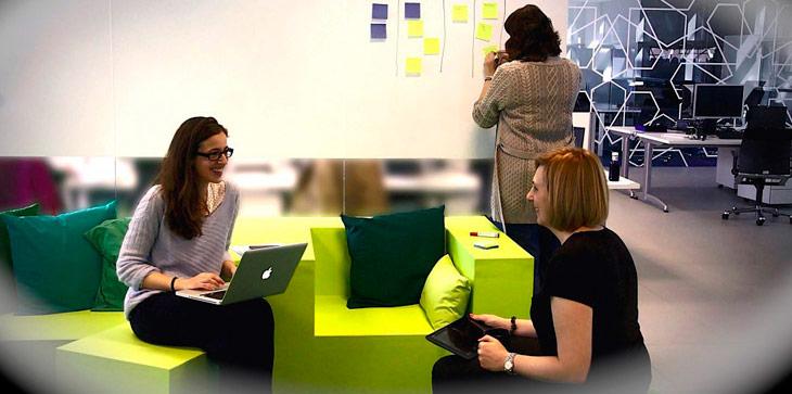 Marina, Molly y Elena de Girls in Tech Spain