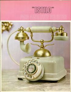 Años 70- Portada folleto publicida Estilo