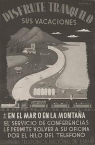 Años 20- Cartel del servicio interurbano