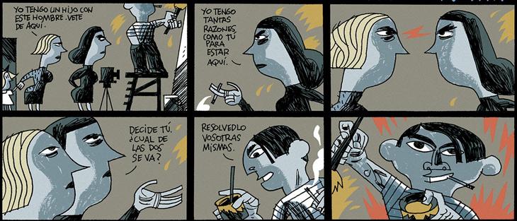 3 páginas sobre el Guernica. Javier Olivares y Santiago García. Semana Negra, 2006.