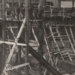 Anónimo, 1927. Estado de las obras del nuevo edificio de Gran Vía en el mes de marzo.