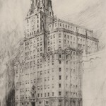 Anónimo, 1926. Boceto perspectiva del nuevo edificio de Gran Vía. Probablemente realizado por Cárdenas.