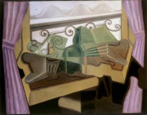 Juan Gris. La fenêtre aux collines, 1923