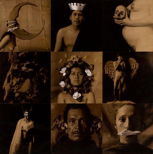 Luis-Gonzalez-Palma_La-Loteria-I-(La-luna-el-rey-la-muerte-la-mascara-la-rosa-la-dama-el-diablo-el-pajaro-la-sirena_1988-1991_Cortesia-artista