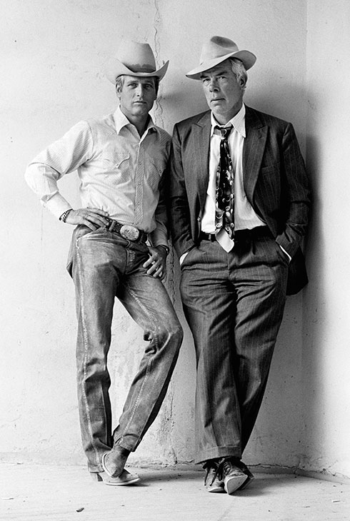 Paul Newman y Lee Marvin en el rodaje de Pocket Money Los indeseables Denver 1971/ ©Terry O'Neill