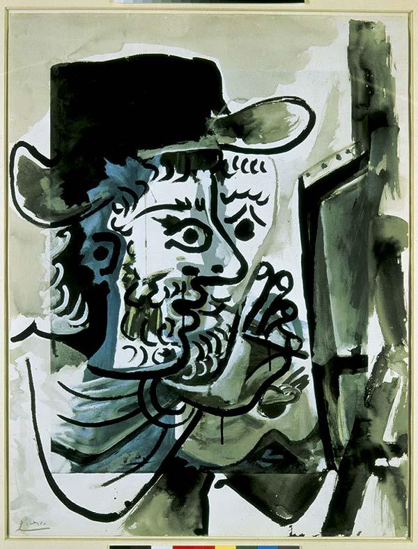 Pablo Picasso, Le peintre au travail, 1964