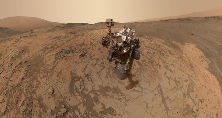 Curiosity Rover Portrait Mars Mojave Selfie MALHI