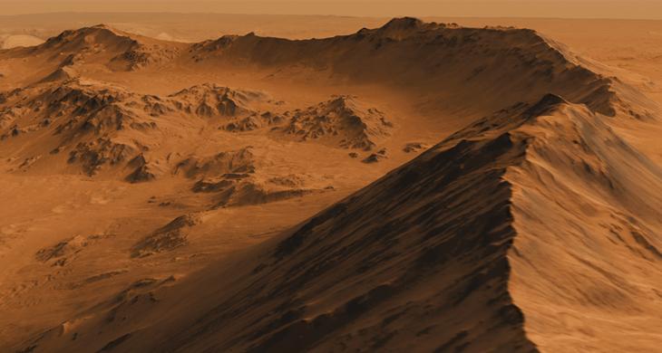Crater Rim, NASA JPL Caltech Univ of Arizona