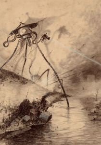 Henrique Alvim Correa (1876-1910). Martian fighting machine in the Thames Valley from the War of the Worlds Heritage Auctions