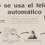 Anónimo, 1927. Cartel de instrucciones de uso del teléfono.