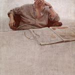 Retrato acrílico Gregorio Marañón, 2005. Hernán Cortés. Colección Gregorio Marañón.