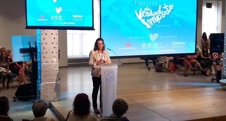 Carmen Morenés, responsable global del Programa Voluntarios Telefónica.