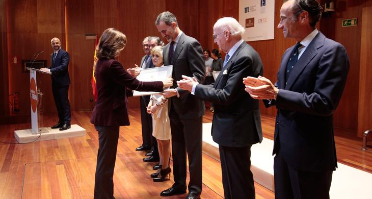 Carmén Morenés, directora general de Fundación Telefónica ha recogido el galardón.