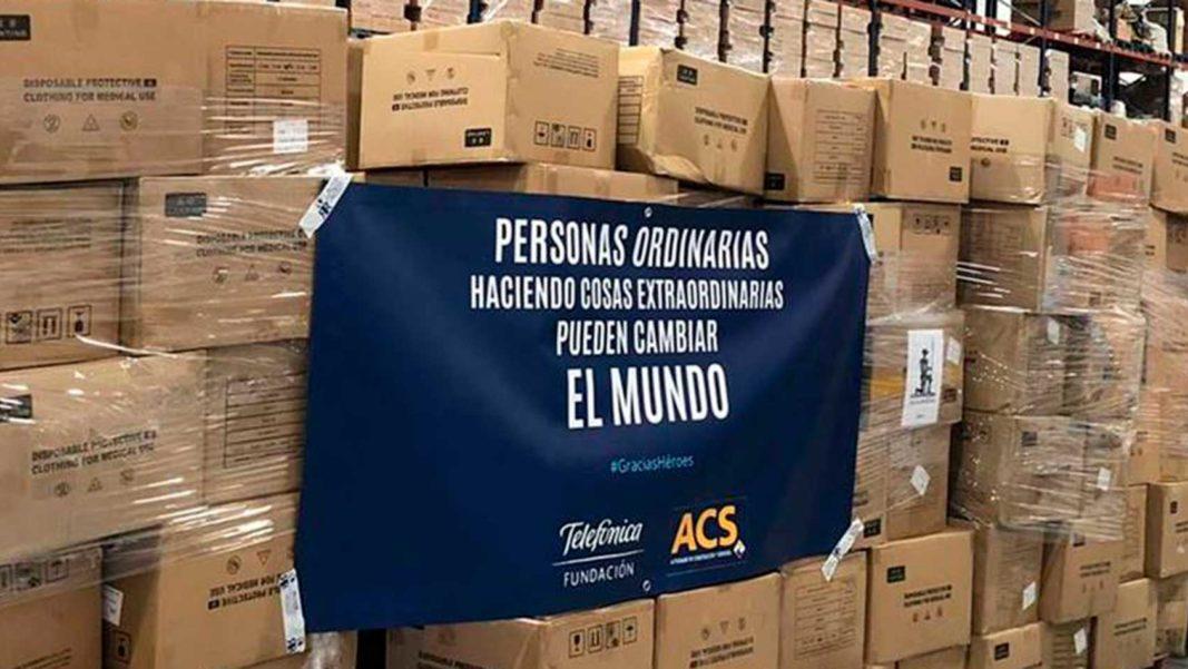 ACS y Telefónica traen a España más de 200.000 'buzos' para el personal sanitario