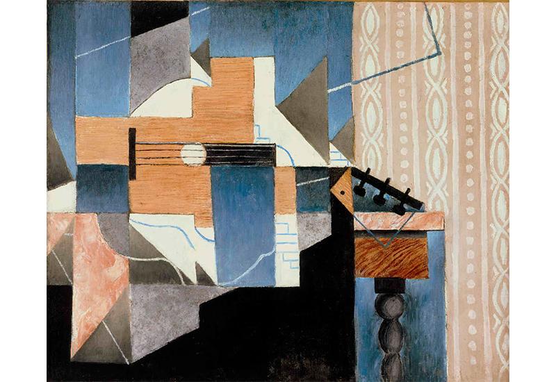 Juan Gris. La guitare sur la table, 1913