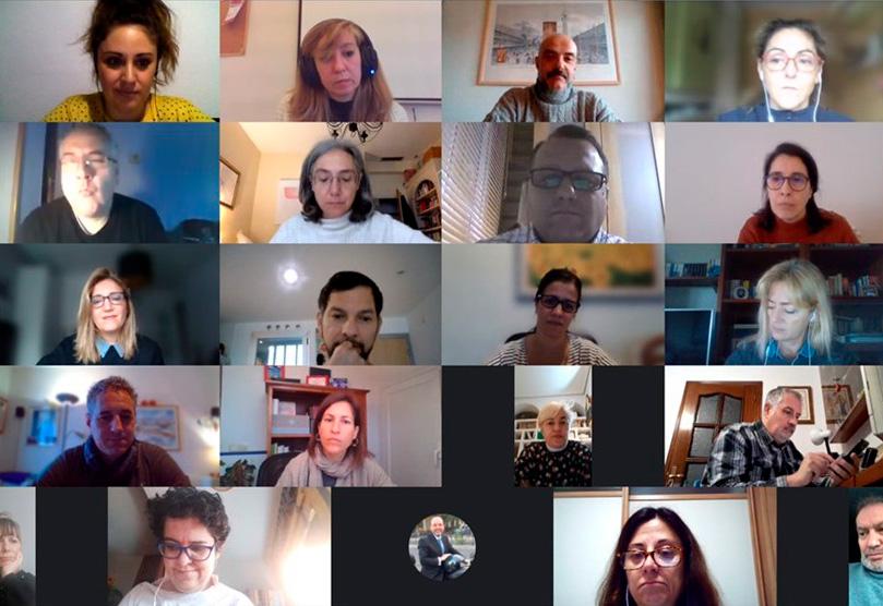 Imágenes del encuentro virtual de la Lanzadera Conecta Empleo en Móstoles.