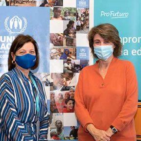 ProFuturo y ACNUR llevarán educación digital a escuelas en campos de refugiados de Ruanda