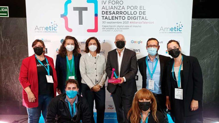 Lanzaderas Conecta Empleo, premiado en los 'Digital Skills Awards Spain 2021'